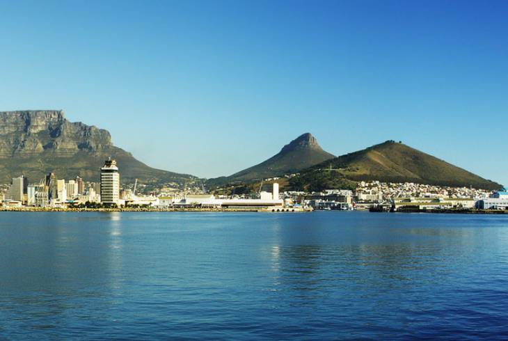 Table Mountain (left), Lion's Head (middle) and Signal Hill (right)