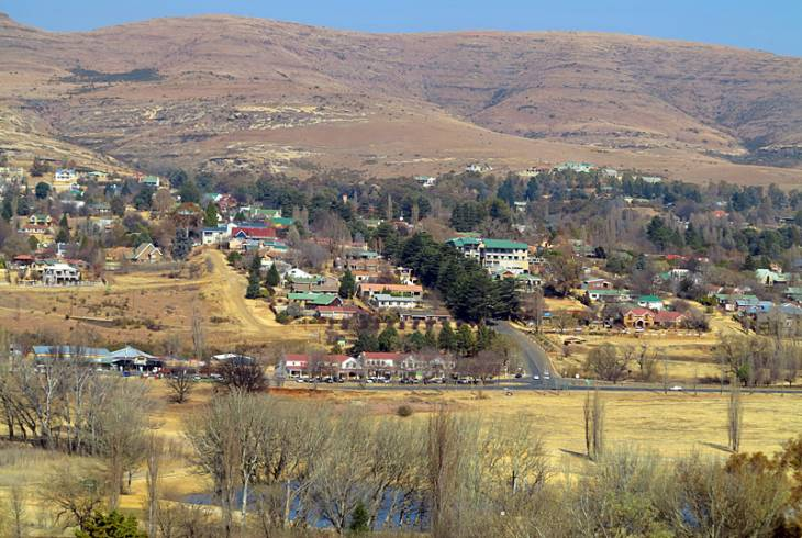 View of Clarens from the Clarens Golf and Trout Estate