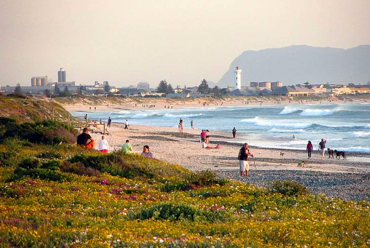 Milnerton Beach in the distance, as seen from Sunset Beach