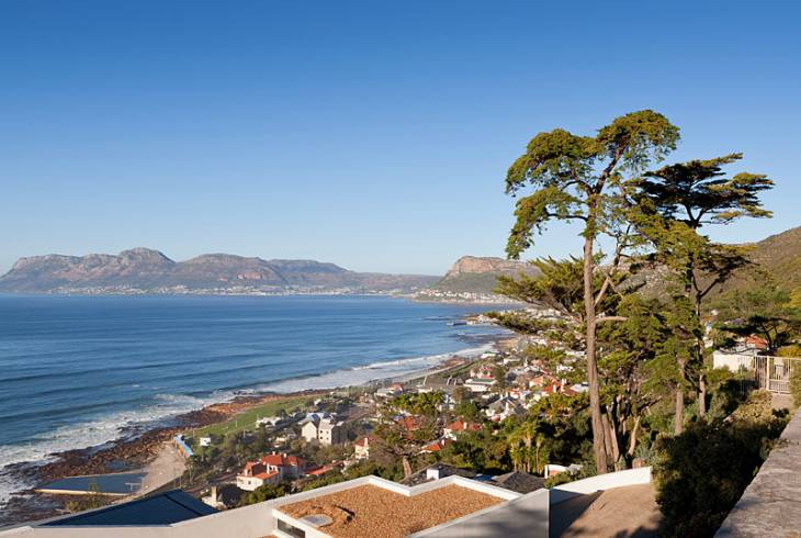 False Bay is a body of water defined by Cape Hangklip (Dutch/Afrikaans for