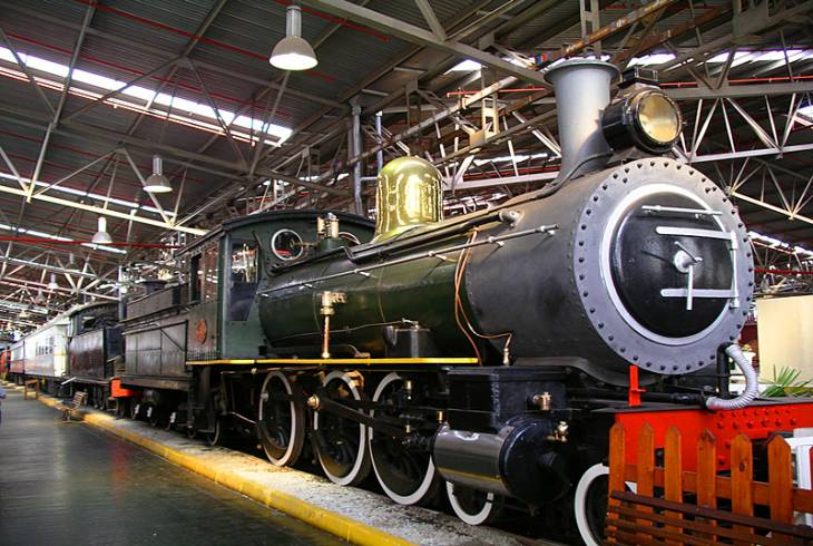 Steam locomotive at Outeniqua Transport Museum in George