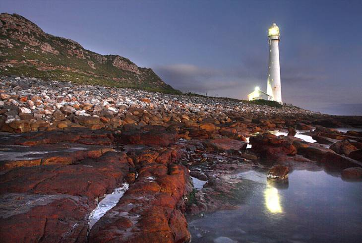The Slangkop lighthouse at Kommetjie near Cape Town
