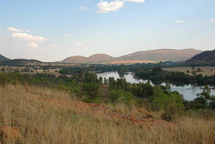 Vaal river at the Vredefort Meteor Impact Site