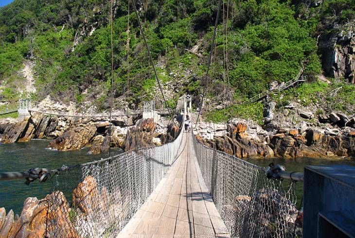 The Storm's River Bridge in the Garden Route National Park
