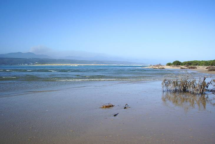 The view from the Keurbooms River mouth/estuary near Plettenberg Bay