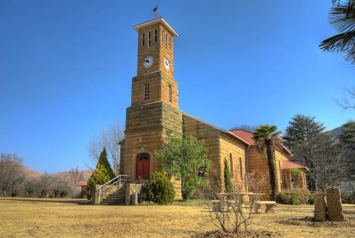 The old Dutch Reformed Church in Main St, Clarens