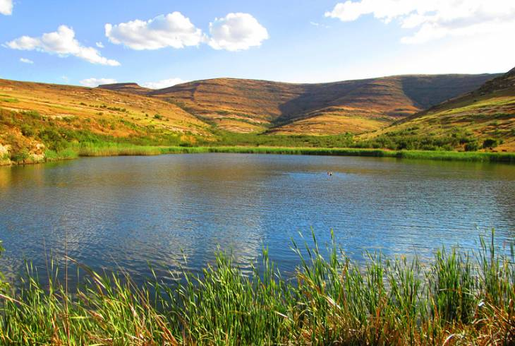 The Kloof Dam in Clarens.