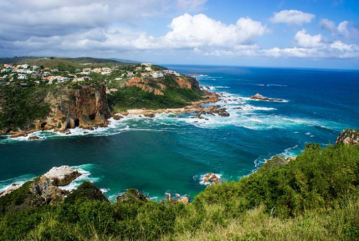Featherbed Nature Reserve, looking down onto the Knysna Heads