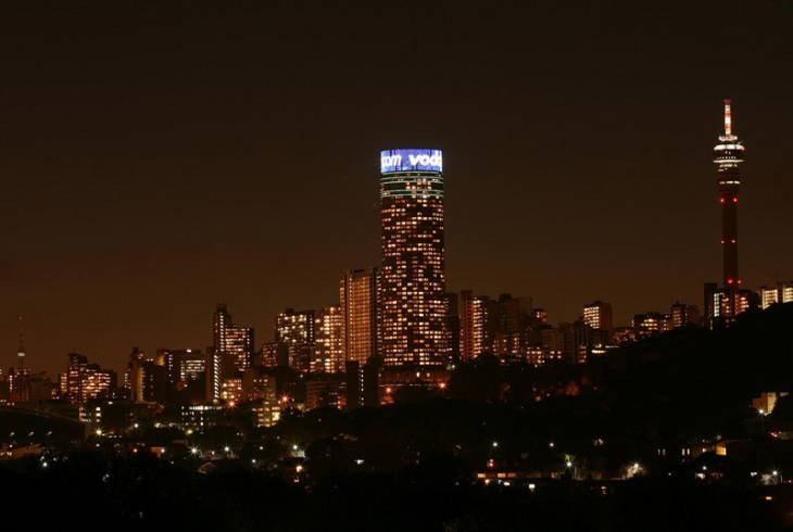 Johannesburg (Joburg/Jozi) - the city at night.