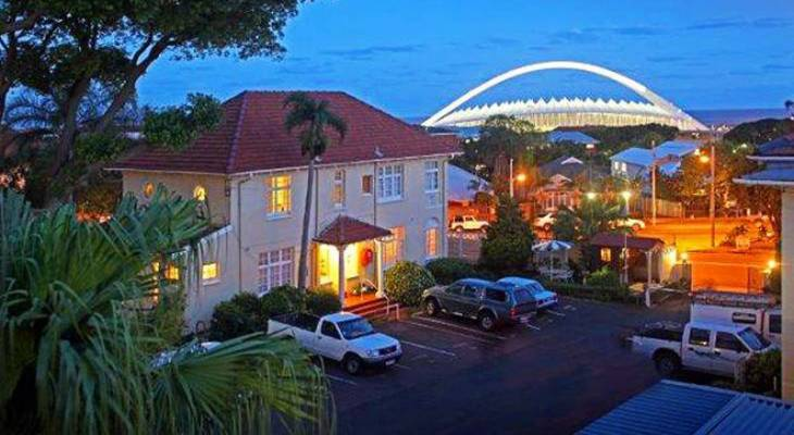 Waterfront side of the house - Morningside Durban Accommodation Information