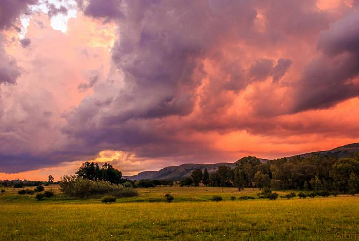 Epic sky over the Magaliesburg mountains