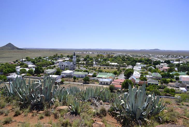 Looking down on the historical town of Hanover, Northern Cape