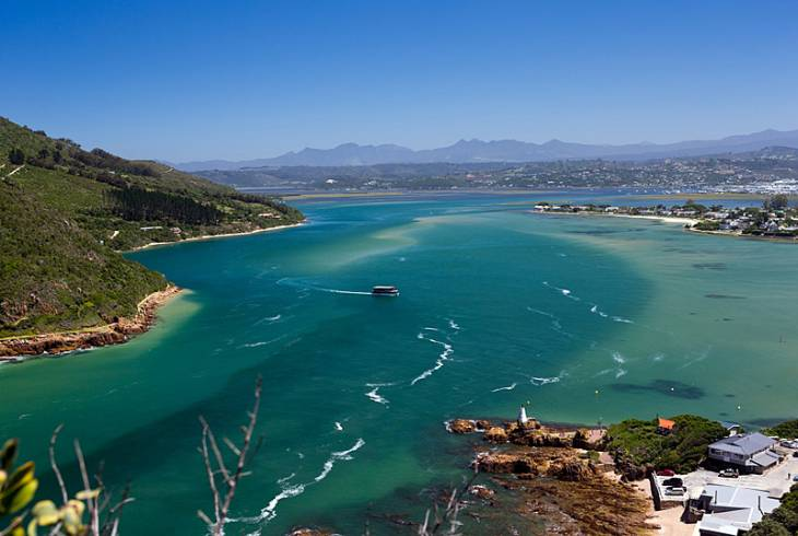 Knysna lagoon from the The Heads