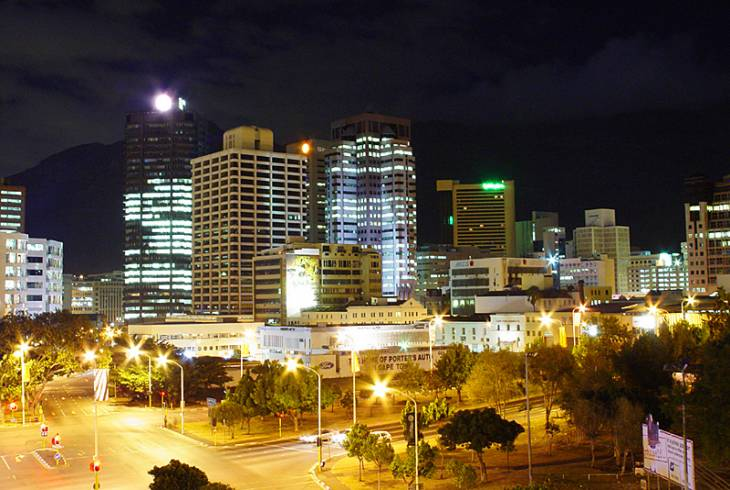 Night in Cape Town CBD