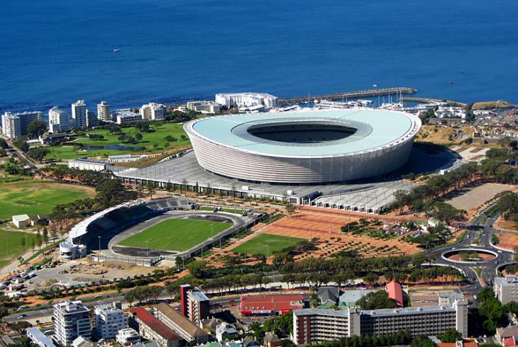 The Cape Town Stadium (previously Green Point Stadium), newly completed for the 2010 FIFA World Cup.
