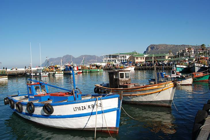 Kalk Bay harbour fishing boats