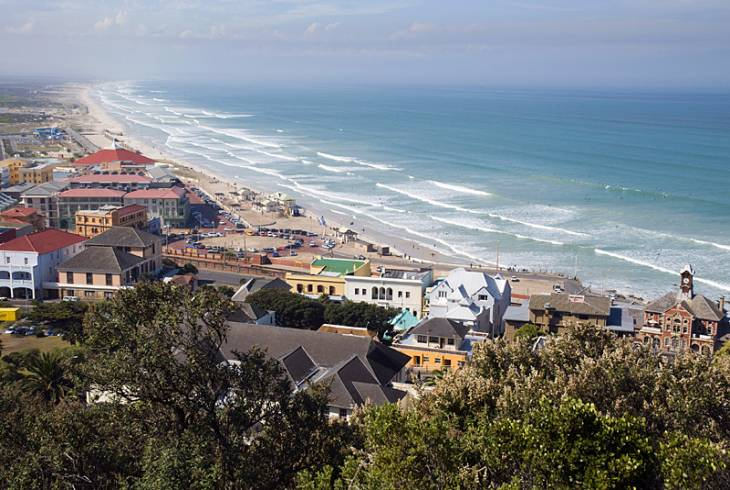 Aerial of Muizenberg, Cape Town
