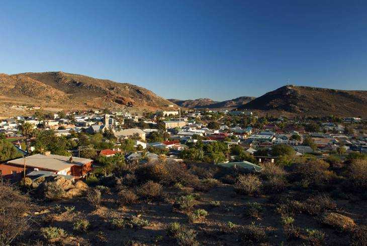 Aerial view of Springbok, Northern Cape