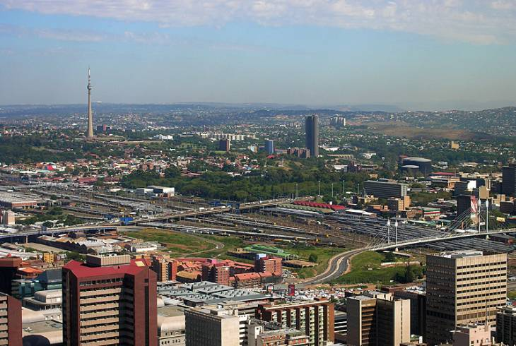 Looking north-west from the Carlton Centre in Johannesburg