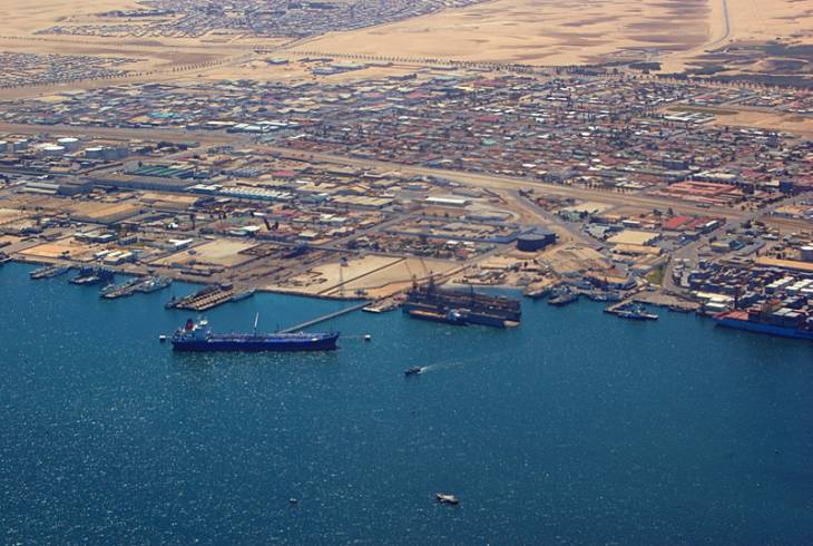 Looking down on Walvis Bay