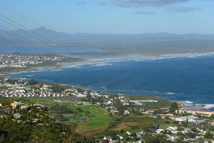 Hermanus Lagoon in the distance