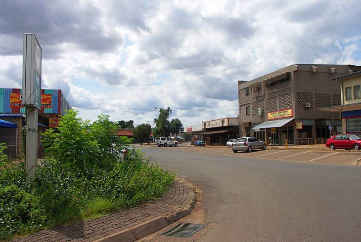Street in the central business area of Thabazimbi, Limpopo