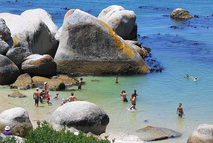 Swimmers at Boulders Beach, Simon's Town, Cape Town