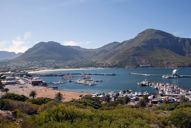 Aerial view of Hout Bay Harbour, Cape Town