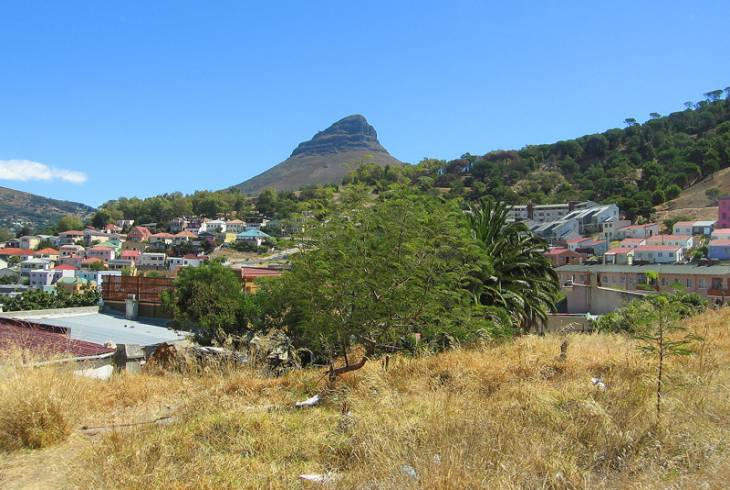 View of Lion's Head from District Six in Cape Town